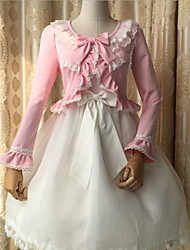Sweet Lolita Long Sleeve N/A White / Black / Pink / Yellow Polyester Lolita Dress