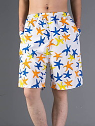 Men's Shorts , Casual Print Cotton / Polyester