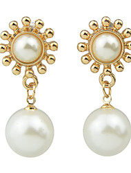 Imitation Hanging Pearl  Drop Earrings
