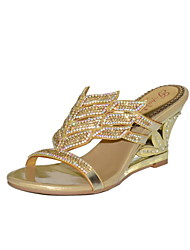 Women's Shoes Leather Wedge Heel Heels Sandals Party & Evening / Dress / Casual Rose Gold