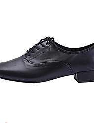 Non Customizable Men's Dance Shoes Latin / Jazz / Dance Sneakers / Tap / Modern Synthetic Chunky Heel Black