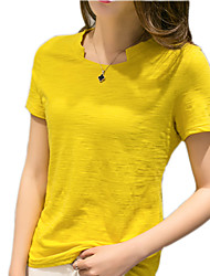 Women Loose Round Neck Short-Sleeved T-Shirt