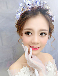 Bride's Flower Shape Crystal Foehead Wedding Tiaras Headbands Accessories 1 Piece
