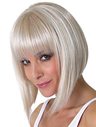 Dream Silvery Bobo Short  Medium Wigs Synthetic Kanekalon African American women Wigs