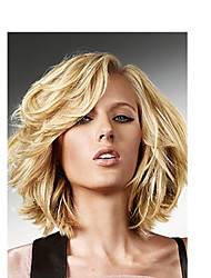 Top Quality Blonde Color Synthetic Middle Curly Synthetic Wigs