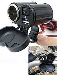 1.2m Wire Motorcycle Automobile Multifunction Charger Socket Cigarette Lighter