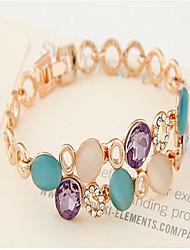 Cute / Casual Alloy Beaded Bracelet