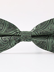 Green Paisley  A Formal Butterfly Bow Tie