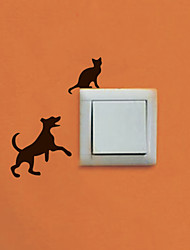 Dog and Cats Wall stickers,switch stickers,socket decoration