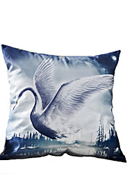3D Design Print Swan Decorative Throw Pillow Case Cushion Cover for Sofa Home Decor Polyester Soft Material