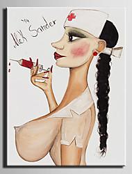 pintura a óleo, mulher nua mão telas pintadas abstrato com esticada emoldurado