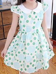 Vestido Chica deAlgodón-Verano / Primavera-Azul / Verde