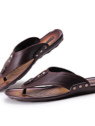 Men's Shoes Casual Flip-Flops Black / Brown