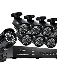 ZOSI® 8 Channel H.264 HDMI D1 DVR 8 pcs 700TVL IR Day Night Outdoor CCTV Camera Security System
