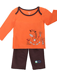 Girl's Orange Clothing Set , Cartoon Cotton Spring / Fall