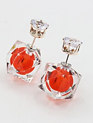 Earring Stud Earrings / Drop Earrings Jewelry Women Alloy / Platinum Plated / Gold Plated 1set Silver