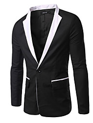 Men's Long Sleeve Long Blazer,Cotton Pure