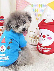 Dog Costume / Coat / Outfits Red / Blue Dog Clothes Winter Fashion / Cosplay / Halloween