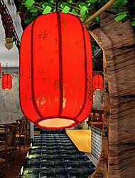 Archaize Sheepskin Red Lanterns Restaurant Corridor Porch Corridor Droplight Lamp LED Light