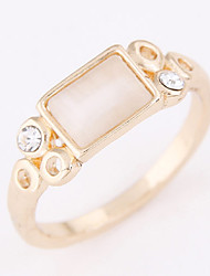 Women's Korean Fashion Sweet Personality Concise Opal Ring