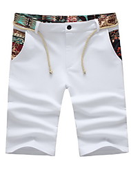 Men's Fashion Leisure 5 minutes of Pants Printed Shorts Plus Sizes