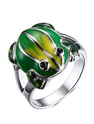 ms kleur kikker 18 k gouden ring