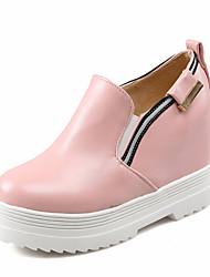 Черный / Розовый / Белый - Женская обувь - Для прогулок - Дерматин - На платформе - На платформе / С круглым носком / Модная обувь -