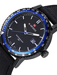 Hombre Reloj de Pulsera Cuarzo Cuarzo Japonés Calendario Resistente al Agua Piel Banda Negro Marrón # 4 # 5 # 6 # 7 # 8