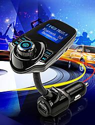 t10 súper bluetooth apoyo al jugador transmisor kit de manos libres para automóvil fm música mp3 inalámbrica tarjeta del tf, cargador de