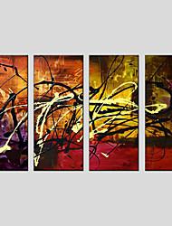 abstrakten Stil Leinwand Material Ölgemälde mit gestreckten Rahmen bereit Größe zu hängen 90 * 30cm * 4pcs