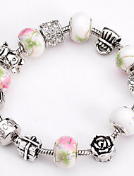 Fashion Jewelry Bracelets&brangle Glass European Beads bracelets for Women Gift Strand Beads bracelets BLH098