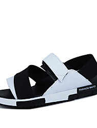 Men's Shoes Outdoor / Casual Suede Sandals Black / White / 1# / Orange