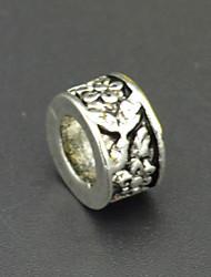diy perles bracelet collier accessoires de boucle d'oreille en argent vert perles fleur de bijoux de Murano hac0027