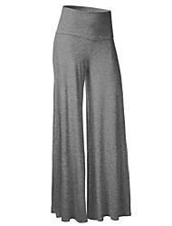 Women's Solid Blue / Red / White / Black / Brown / Gray / Green / Purple Wide Leg Pants,Simple