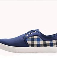 Zapatos de Hombre-Sneakers a la Moda-Exterior-Tela-Negro / Azul