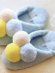 Women's Shoes Fleece Flat Heel Slippers Slippers Casual Blue / Pink