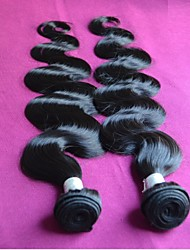 unprocessed 8a virgin brazilian human hair extensions weaves mixed 2pieces lot color1b remy virgin hair