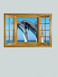 3d наклейки наклейки на стены, дельфин декор виниловые наклейки для стен