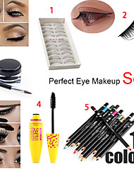 Eye Makeup Classical Mix(False Eyelash + Eyelash Tweezers+Eyeliner +Mascara +Eye Shadow Pen)