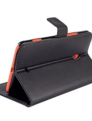 For Nokia Case Wallet / Card Holder / with Stand Case Full Body Case Solid Color Hard PU Leather Nokia Nokia Lumia 1320