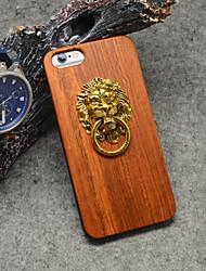 Для Кейс для iPhone 6 / Кейс для iPhone 6 Plus Рельефный Кейс для Задняя крышка Кейс для Имитация дерева Твердый ДеревоiPhone 6s Plus/6