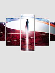Люди / фантазия / Модерн Холст для печати 5 панелей Готовы повесить , Горизонтальная