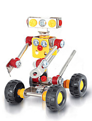 Puzzles 3D - Puzzle / Metallpuzzle Bausteine DIY Spielzeug Roboter 89 Metall Rot / Gelb / Silber Model & Building Toy