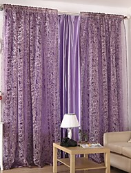 The Rose Two Panels Living Room Polyester Sheer Curtains Shades