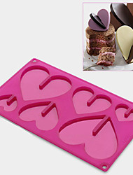 Cookie Icecream Cake Sweet 3D Heart Chocolate Candy Silicone Mould Mold Tray Sugarcraft Baking Muffin Pan