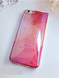 Для Кейс для iPhone 6 / Кейс для iPhone 6 Plus Полупрозрачный Кейс для Задняя крышка Кейс для Один цвет Мягкий СиликонiPhone 6s Plus/6