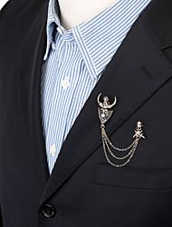 мужская мода марочные череп быка рога брошь