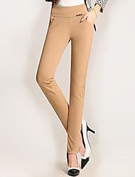 Pantalon Aux femmes Slim simple Polyester / Spandex Elastique