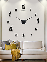 Hot Sell New Modern Design High Quality Silent 3D DIY Wall Clock 12S020