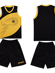 New Basketball Jerseys Boys Breathable Blank Sports Knit Wear Basketball Shirts Short Set for Men